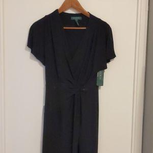 Ralph Lauren black faux wrap dress